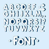 Grafische doopvont Met de hand gemaakte zonder-serifdoopvont, dunne lijnen Hand getrokken kalligrafie het van letters voorzien al Royalty-vrije Stock Foto