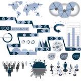Grafische Ecoinformatie Royalty-vrije Stock Afbeeldingen