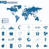 Grafische Ecoinformatie Royalty-vrije Stock Foto's