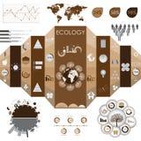 Grafische Ecoinformatie Stock Afbeeldingen