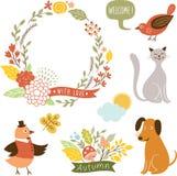 Grafische Elemente des Feiertags, Vektorsammlung Lizenzfreie Stockbilder