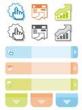 Grafische elementen voor Webontwerpers Royalty-vrije Stock Foto's