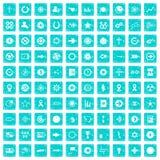 100 grafische Elementikonen stellten Schmutz blau ein Stockbild