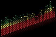 Grafische equaliser - Vectorbeeld Royalty-vrije Stock Foto's