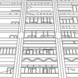 Grafische Fassade Stockbilder