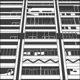 Grafische Fassade Lizenzfreies Stockfoto