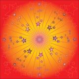 Grafische Feier der Sterne Stockbild