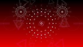 Grafische Feuerwerksexplosion des abstrakten Hintergrundes zu 2016 4K stock abbildung