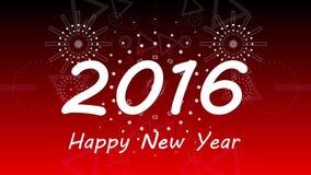 Grafische Feuerwerksexplosion zu 2016 4K stock abbildung