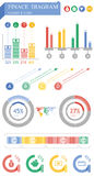 Grafische financiën Stock Foto's