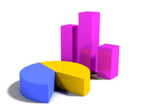 Grafische grafiek Stock Fotografie