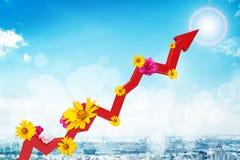 Grafische grafiek met bloemen Stock Fotografie
