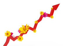 Grafische grafiek met bloemen Royalty-vrije Stock Afbeelding