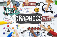 Grafische Grafik-Illustrations-kreatives Konzept des Entwurfes Lizenzfreies Stockfoto