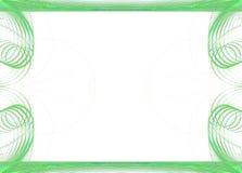 Grafische grens/Zaken - Cirkel Groen stock illustratie