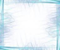 Grafische grens/Zaken - Cyaan stock illustratie