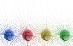 Grafische grens/Zaken - de Spiraal van 4 Kleur royalty-vrije illustratie