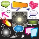 Grafische het symbool van de dialoog Stock Afbeelding