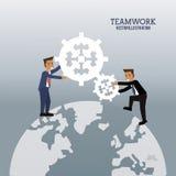 Grafische het toestel van de zakenliedenalgemene samenwerking vector illustratie
