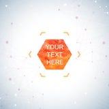 Grafische Hintergrundpunkte mit Verbindungen Aquarellhexagon formt für Ihren Text und Design Auch im corel abgehobenen Betrag Lizenzfreie Stockfotografie