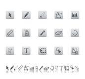 Grafische hulpmiddelenpictogrammen. Royalty-vrije Stock Fotografie