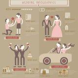 Grafische huwelijksinformatie Royalty-vrije Stock Foto's