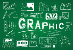 Grafische Ikone Lizenzfreie Stockfotografie