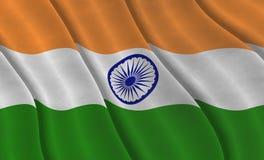 Grafische illustraion van Indische Vlag royalty-vrije stock afbeeldingen