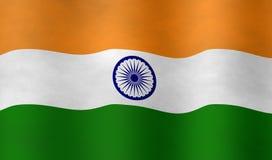 Grafische illustraion van Indische Vlag royalty-vrije stock afbeelding