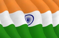 Grafische illustraion van Indische Vlag stock afbeeldingen