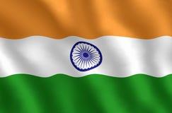 Grafische illustraion van Indische Vlag stock foto's