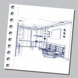 Grafische illustratie met decoratieve architectuur 14 Royalty-vrije Stock Fotografie