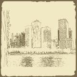 Grafische illustratie met decoratieve architectuur 32 Royalty-vrije Stock Afbeelding