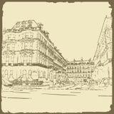 Grafische illustratie met decoratieve architectuur 32 Royalty-vrije Stock Fotografie
