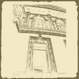 Grafische illustratie met decoratieve architectuur 36 Stock Fotografie