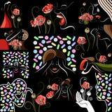 Grafische illustratie met decoratieve opiaten 12 Stock Afbeelding