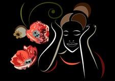 Grafische illustratie met decoratieve opiaten 5 Royalty-vrije Stock Afbeelding
