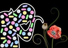 Grafische illustratie met decoratieve opiaten 8 Stock Afbeeldingen