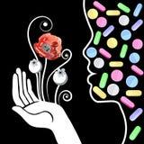 Grafische illustratie met decoratieve opiaten 11 Stock Afbeelding