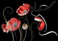 Grafische illustratie met decoratieve opiaten 3 Royalty-vrije Stock Foto