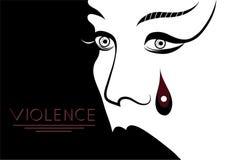 Grafische illustratie met elementen van geweld 4 Stock Foto's