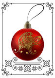 Grafische illustratie met Kerstmisdecoratie 32 Royalty-vrije Stock Fotografie
