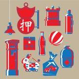 Grafische illustratie van de nostalgische punten van Hong Kong stock illustratie