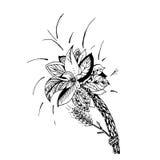 Grafische illustratie van een bloem Stock Afbeeldingen