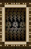 Grafische illustratie van een Tarotkaart 9 Royalty-vrije Stock Afbeelding
