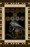 Grafische illustratie van een Tarotkaart 11 Stock Afbeelding