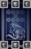 Grafische illustratie van een Tarotkaart 11_2 Stock Afbeelding