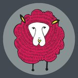 Grafische illustratie van schapen Royalty-vrije Stock Foto