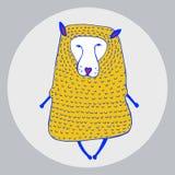 Grafische illustratie van wolf Royalty-vrije Stock Fotografie