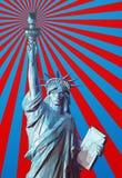 Grafische Illustration der polygonalen Freiheit auf glänzendem Hintergrund Stockfotos